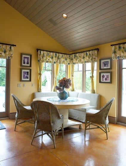 Eclectic Dining Room by Dan Nelson, Designs Northwest Architects