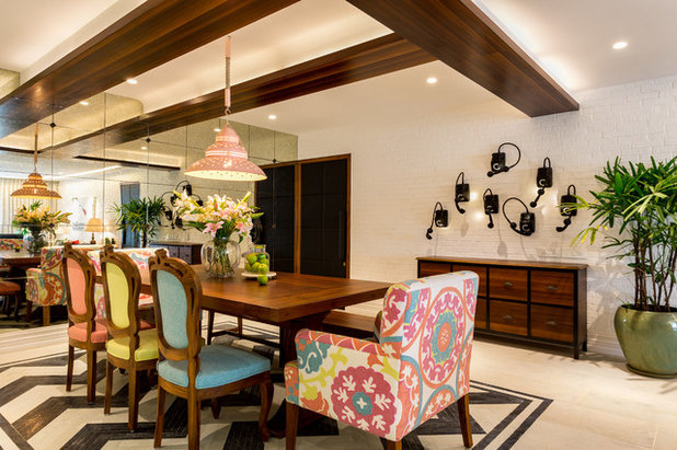 Eclectic Dining Room by Shabnam Gupta