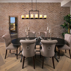 Transitional Dining Room by Luster Custom Homes