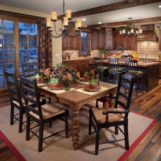 Traditional Dining Room by Steve Wanke Photography