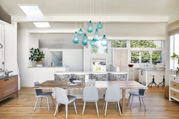 Beach Style Dining Room by Lauren Nelson Design