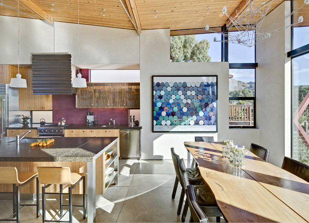 Beach Style Dining Room by WA Design Architects