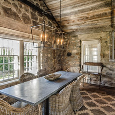 Farmhouse Dining Room by Kelly and Co. Design