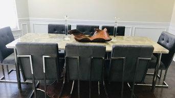 Stone Dining Room Table, Kitchen back-splash, Mudroom,  bathroom upgrade