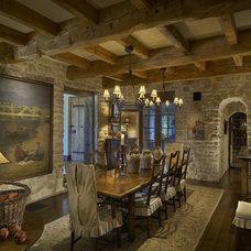 Mediterranean Dining Room by Desert Star Construction