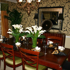 Modern Dining Room by Laura Manning Bendik