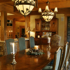 Rustic Dining Room by Paddle Creek Design