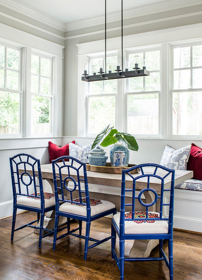 Transitional Dining Room by Terracotta Design Build