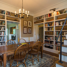 Farmhouse Dining Room by Patterson and Smith Construction, Inc.