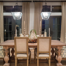 Transitional Dining Room by Alan Mascord Design Associates Inc