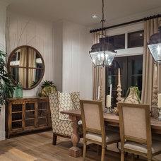 Transitional Dining Room by Alan Mascord Design Associates Inc