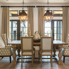 Transitional Dining Room by JPID Construction & Design LLC
