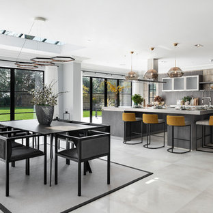 Striking Industrial Kitchen for Newly Built Home, Buckinghamshire
