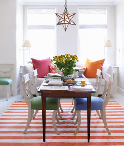 Contemporary Dining Room by Bradford's Rug Gallery