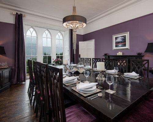 affordable ides dco pour une grande salle manger victorienne ferme avec un mur violet un with salle a manger violet