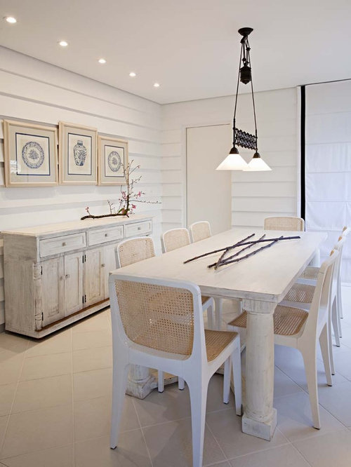 white wash dining room table. Cottage chic dining room photo in Other with white walls Whitewash Furniture  Houzz