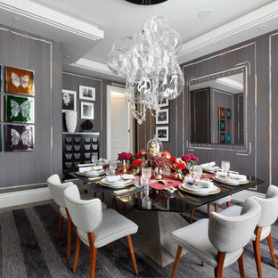 Stunning Grey Dining Area