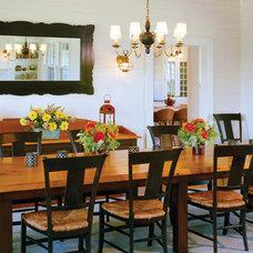 Transitional Dining Room by Su Casa Designs