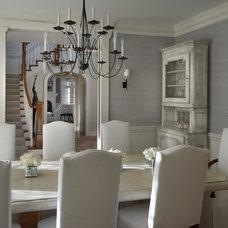 Transitional Dining Room by Lauren Coburn LLC