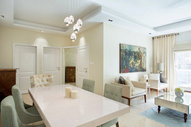 Contemporary dining room suburban luxury