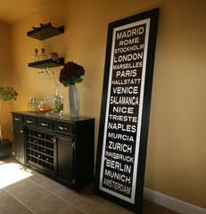 eclectic dining room by Subway-Sign.com