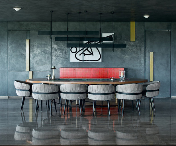 Industrial Dining Room by MEISTER MEISTER