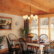 Traditional Dining Room by Real Log Homes