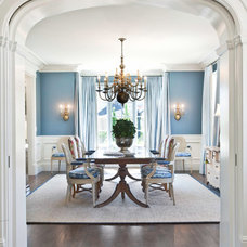 Traditional Dining Room by Markay Johnson Construction