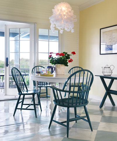 Coastal Dining Room by Hollester Interiors