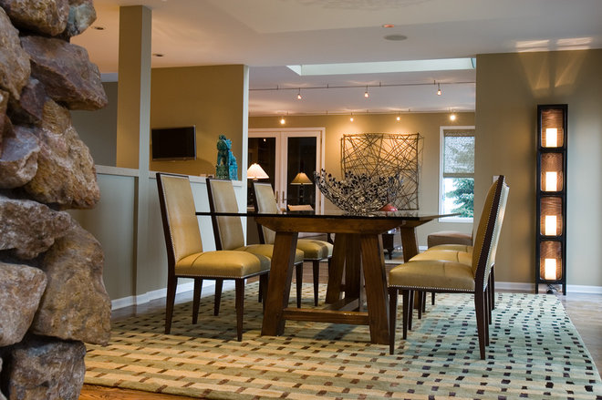 Contemporary Dining Room by Nora Schneider Interior Design