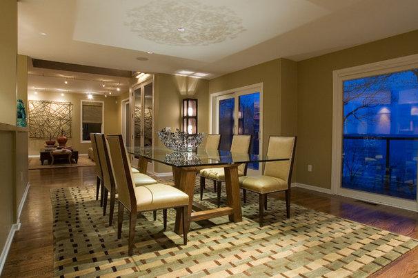 Contemporary Dining Room by Nora Schneider Interior Design