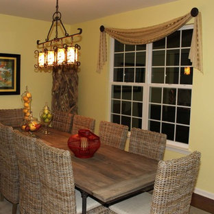 Design ideas for a tropical dining room in Philadelphia.