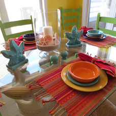 Beach Style Dining Room by Asia Evans Artistry