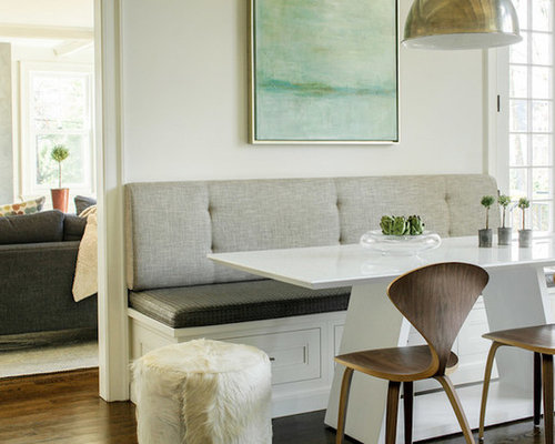 Dining Room   Small Beach Style Dark Wood Floor Dining Room Idea In Los  Angeles With