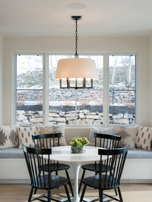 transitional light wood floor dining room photo in other with beige walls - Dining Room Light Fittings