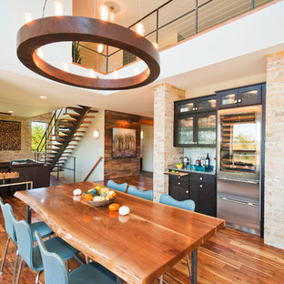 Contemporary open plan dining in Other.