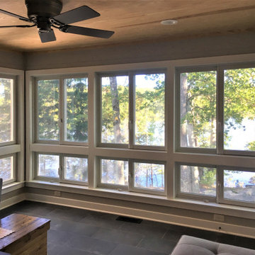 Sunroom of Lakeside Cabin Addition and Renovation