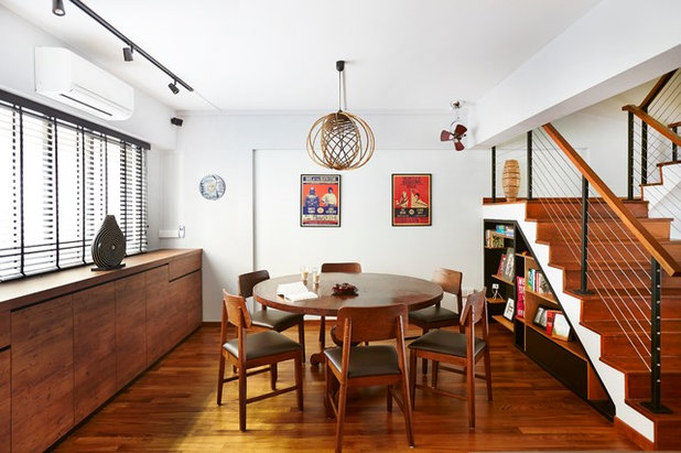 Eclectic Dining Room by Fuse Concept Pte Ltd