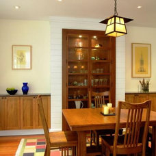 Craftsman Dining Room by Richard Bubnowski Design LLC