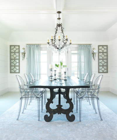 Beach Style Dining Room by Donna Elle Design