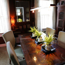 Eclectic Dining Room by Lightlink Lighting