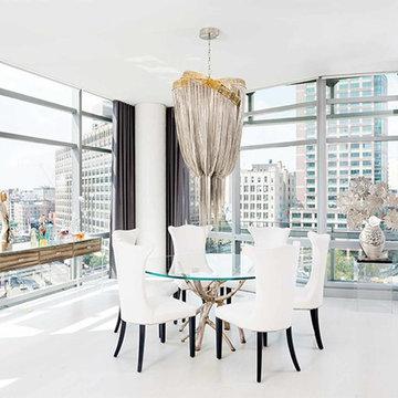 Swanky Penthouse Petit Dining Room