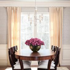 Transitional Dining Room by Threshold Goods & Design, LLC
