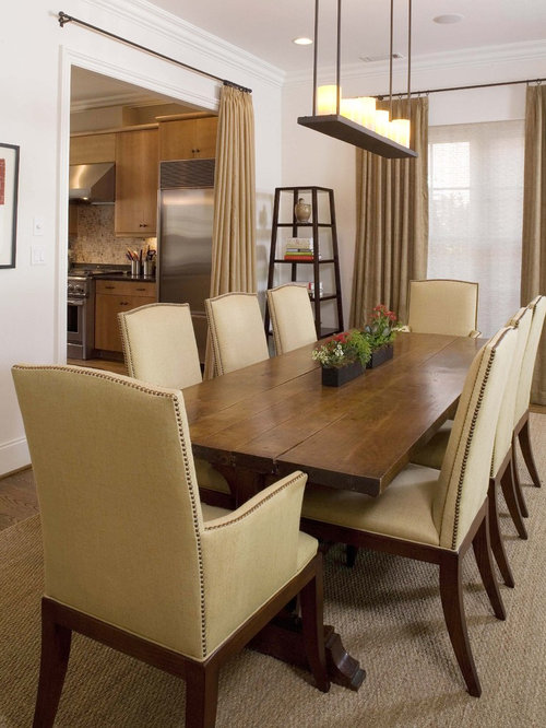 Inspiration For A Timeless Beige Floor Enclosed Dining Room Remodel In  Birmingham With White Walls