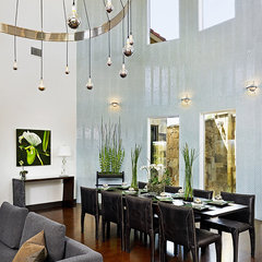 contemporary dining room by Panache Interiors