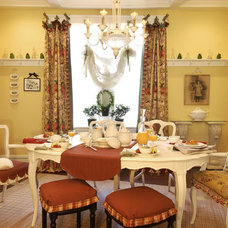 Eclectic Dining Room by Cj Knapp interiors