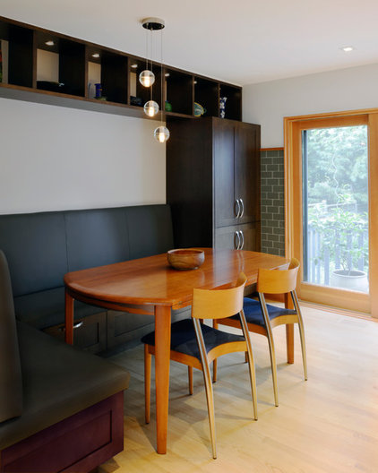 Contemporary Dining Room by Design First Interiors