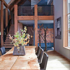 Rustic Dining Room by WA design