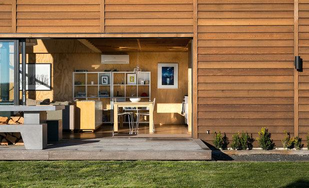 Visite priv e une maison de vacances modeste en nouvelle for Salle a manger wales