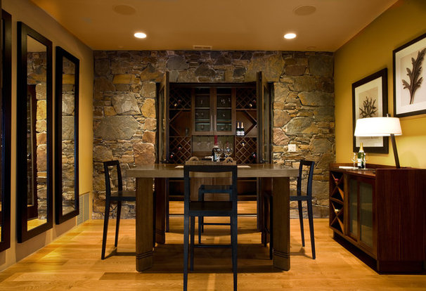 Rustic Dining Room by Phillips Development